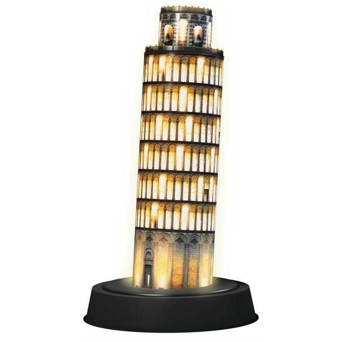 Ravensburger 3 Boyutlu 216 Parçalı Plastik Puzzle Işıklı Pisa Kulesi - 125159