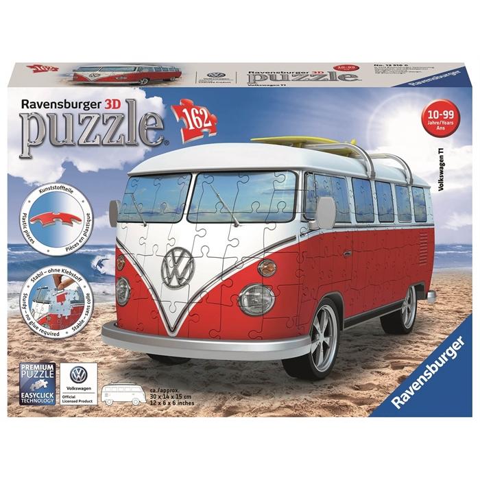 Ravensburger 3 Boyutlu 162 Parçalı Plastik Puzzle VW Bus T1 - 125166