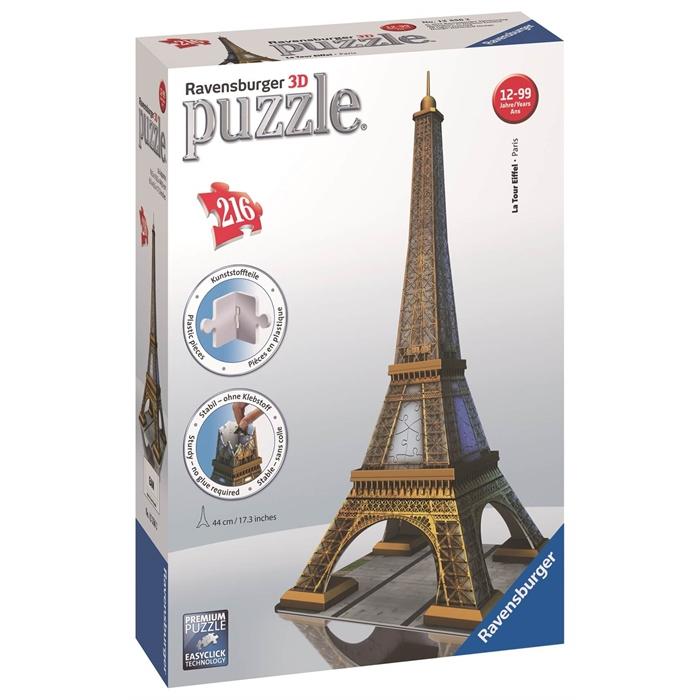 Ravensburger 3 Boyutlu 216 Parçalı Plastik Puzzle Eyfel Kulesi - 125562