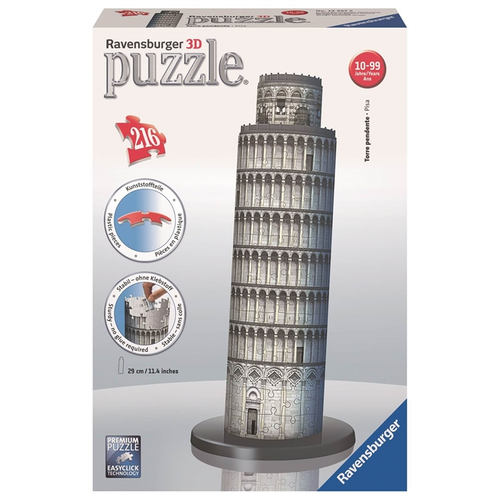 Ravensburger 3 Boyutlu 216 Parçalı Plastik Puzzle Pisa Kulesi - 125579
