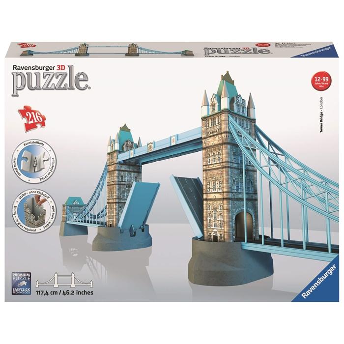 Ravensburger 3 Boyutlu 216 Parçalı Plastik Puzzle Tower Bridge - 125593