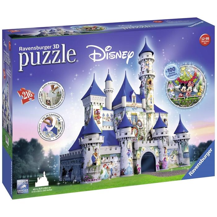 Ravensburger 3 Boyutlu 216 Parçalı Plastik Puzzle Walt Disney Şatosu - 125876