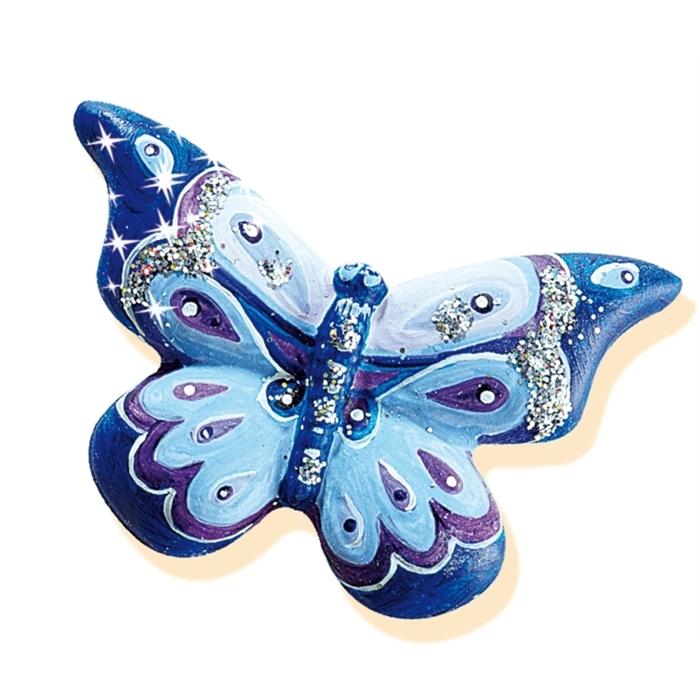 SES Creative Kalıba Dök ve Boya - Kelebekler -Simli