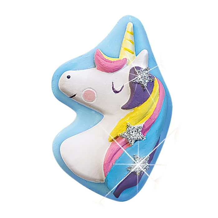 SES Creative Kalıba Dök ve Boya - Unicorn - Simli