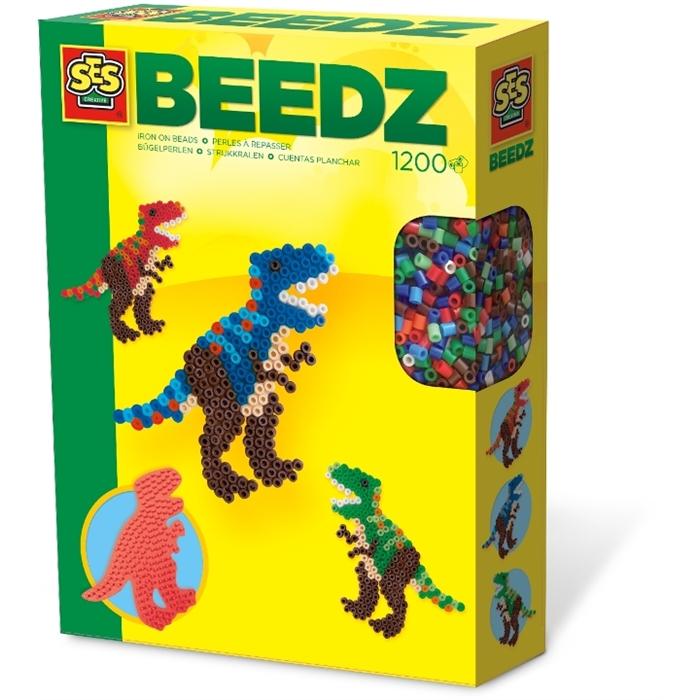 SES Creative Beedz - Ütü Boncuk Seti - T-Rex