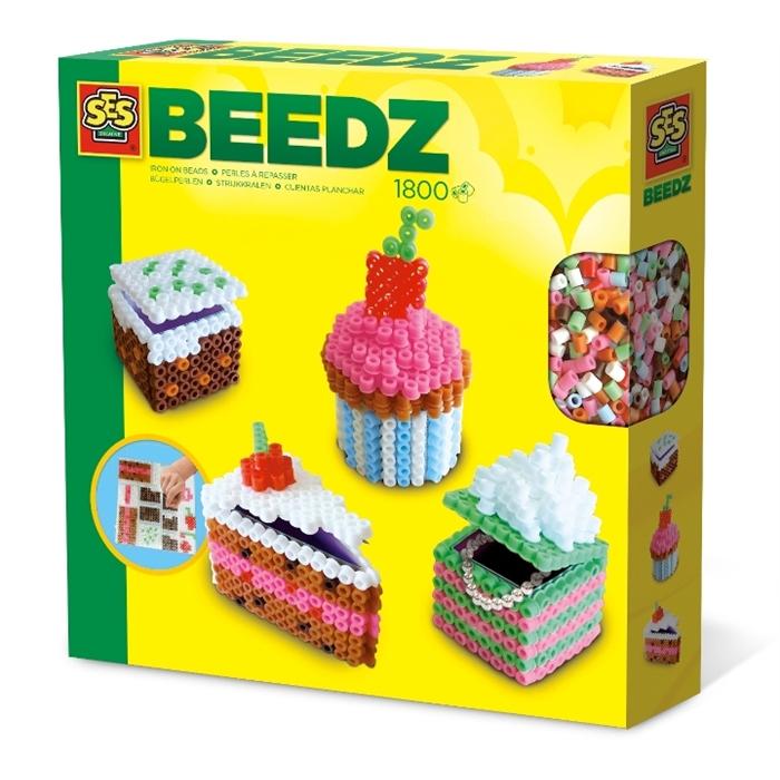 SES Creative Beedz - Ütü Boncuk Seti - 3 Boyutlu Pastalar