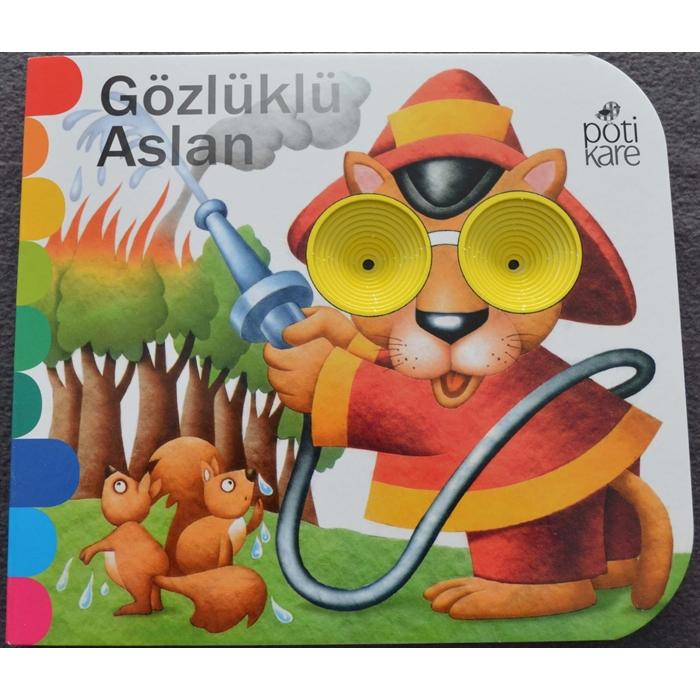 Delikli Kitaplar - Gözlüklü Aslan