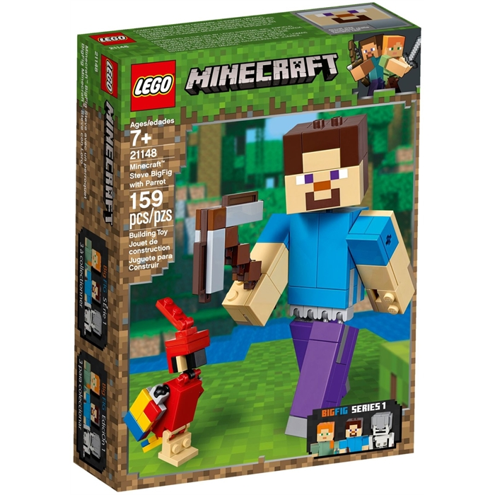 Lego 21148 Minecraft Steve with Parrot