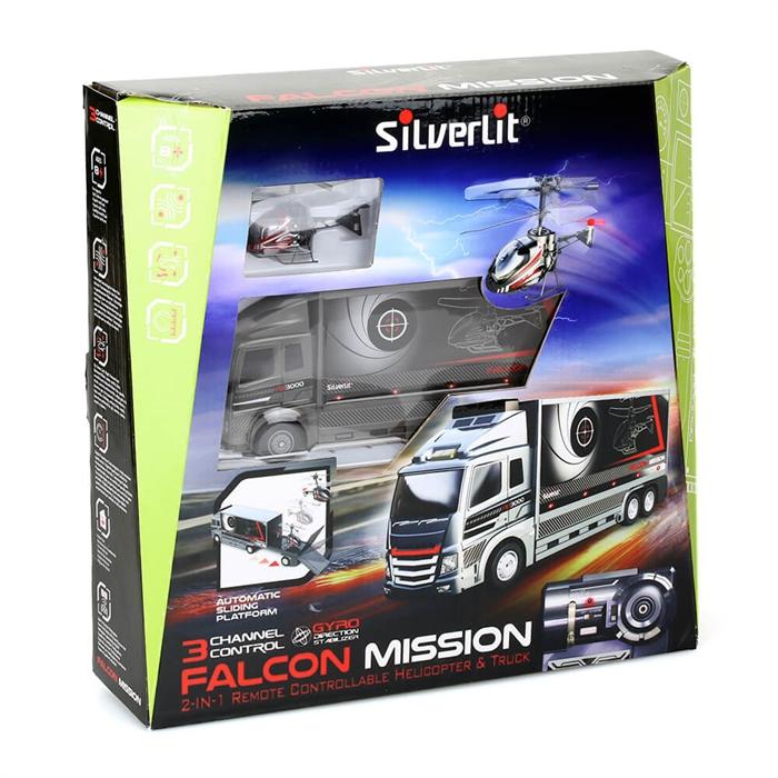 Silverlit Nano Falcon Kumandalı Helikopter ve TIR 3CH Kırmızı