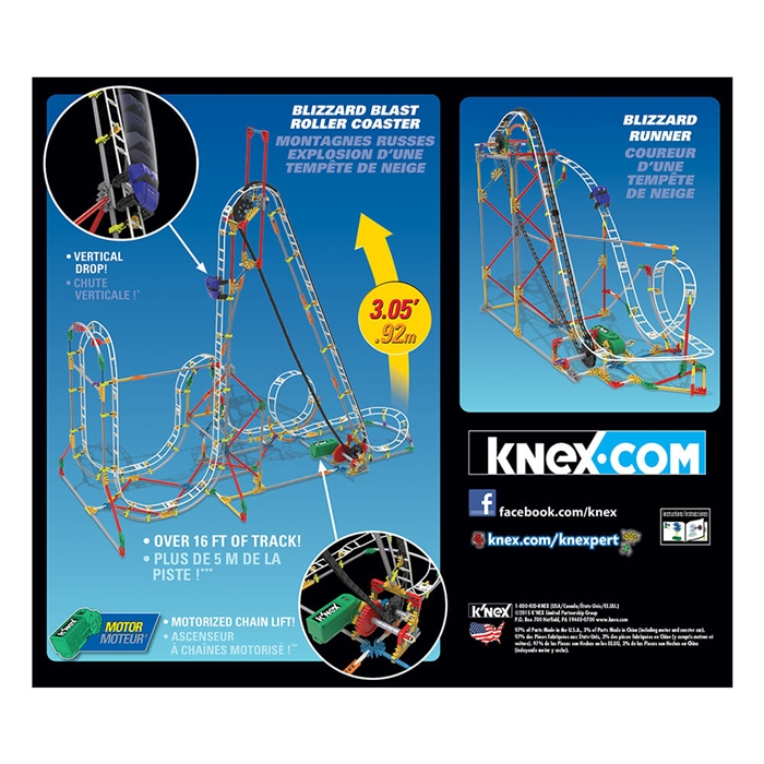 K'Nex Blizzard Blast Roller Coaster Seti (Motorlu) Hız Treni