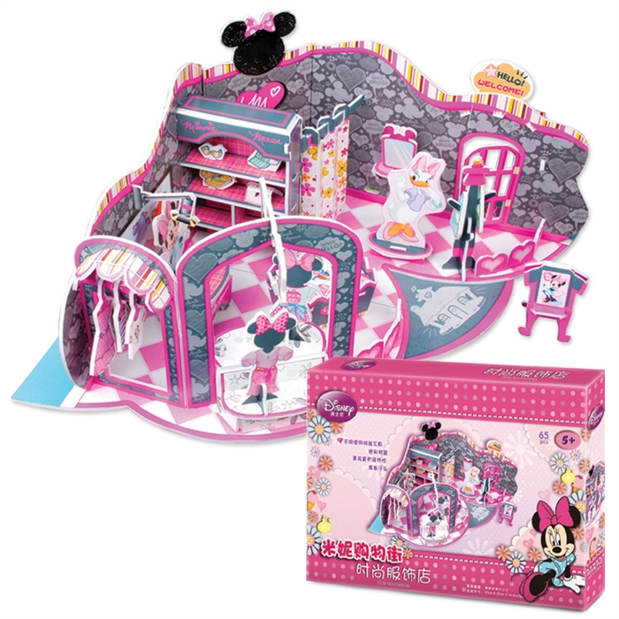Cubic Fun 3D 65 parça Puzzle Minnie'nin Moda Dükkanı