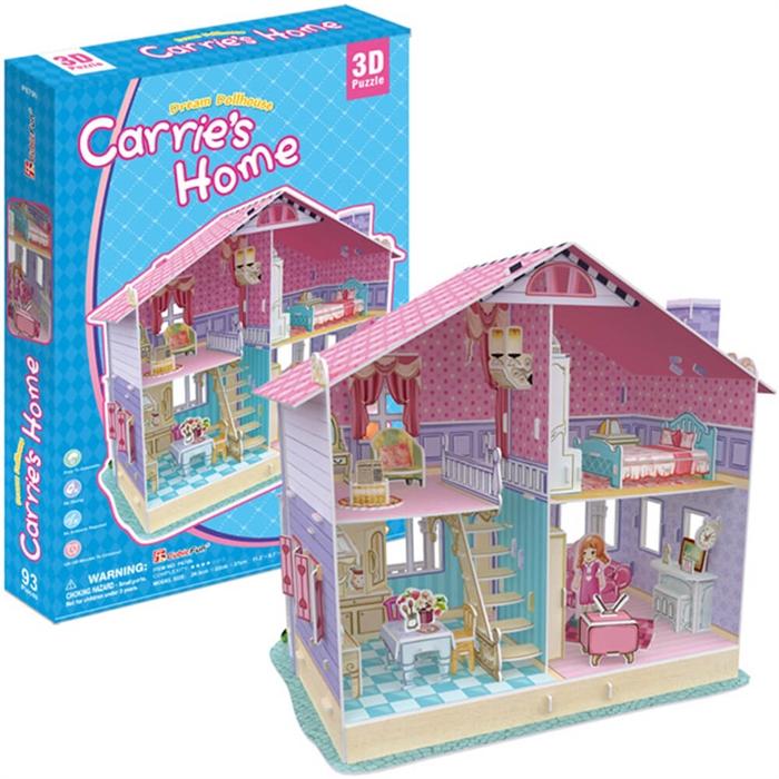 Cubic Fun 3D 93 Parca Puzzle Dream Carrie'nin Rüya Oyuncak Evi