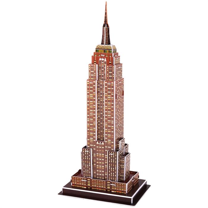 Cubic Fun 3D 39 Parça Puzzle Empire State Binası - ABD