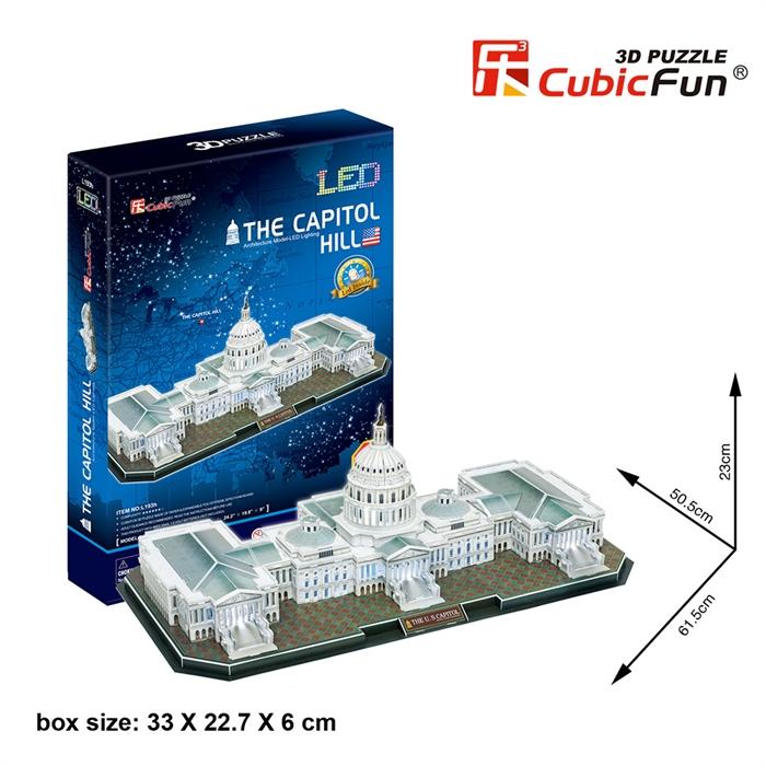 Cubic Fun 3D 150 Parça Puzzle The Capitol Hill Kongre Binası - ABD (Led Işıklı)