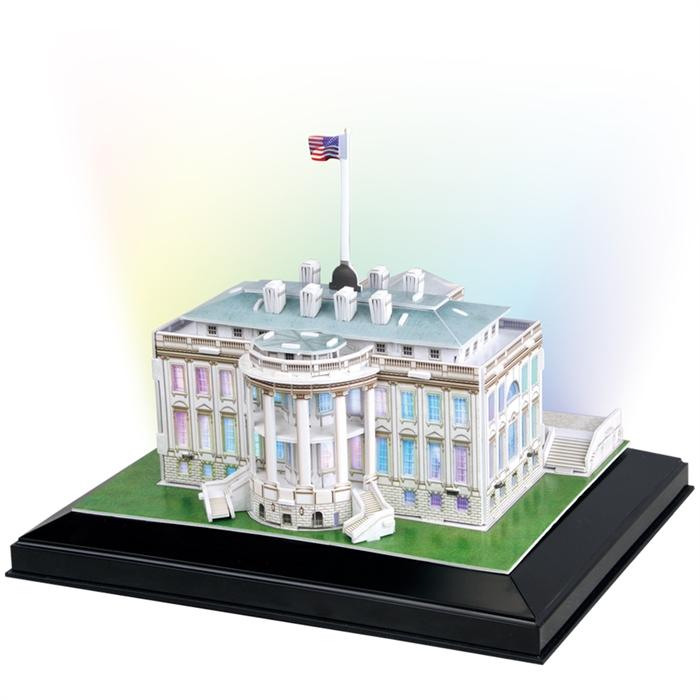 Cubic Fun 3D 56 Parça Led Puzzle Beyaz Saray - ABD