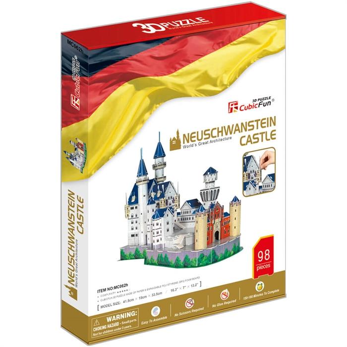 Cubic Fun 3D 98 Parça Puzzle Neuschwanstein Kalesi- Almanya