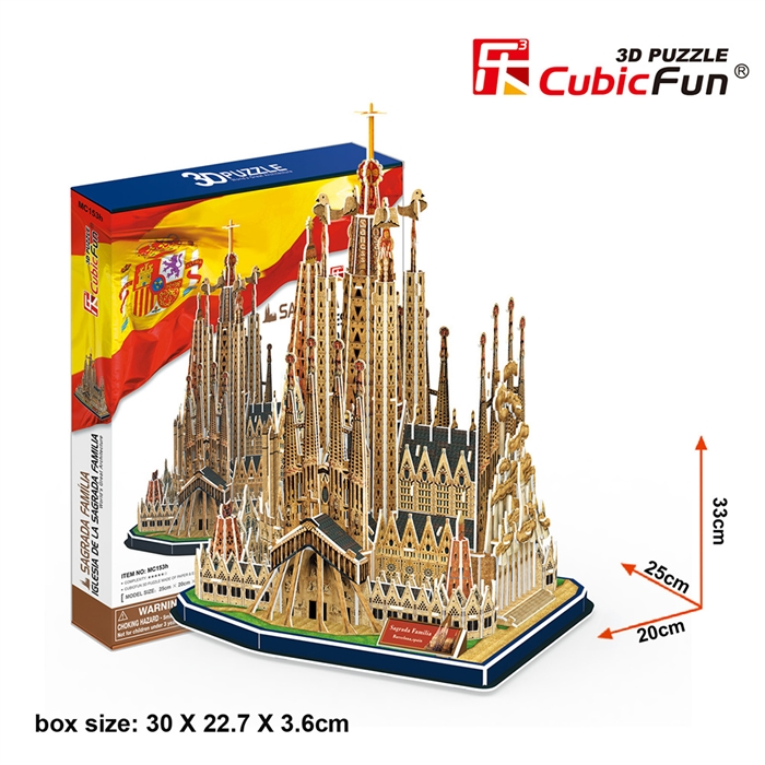 Cubic Fun 3D 194 Parça Puzzle La Sagrada Familia Kilisesi - İspanya