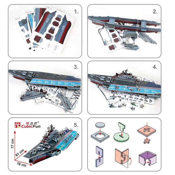 Cubic Fun 3D 103 Parça Kiev Askeri Uçak Gemisi