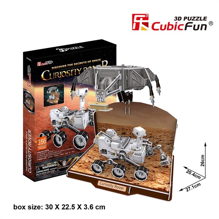 Cubic Fun 3D 166 Parça Puzzle Curiosity Kaşif Robotu