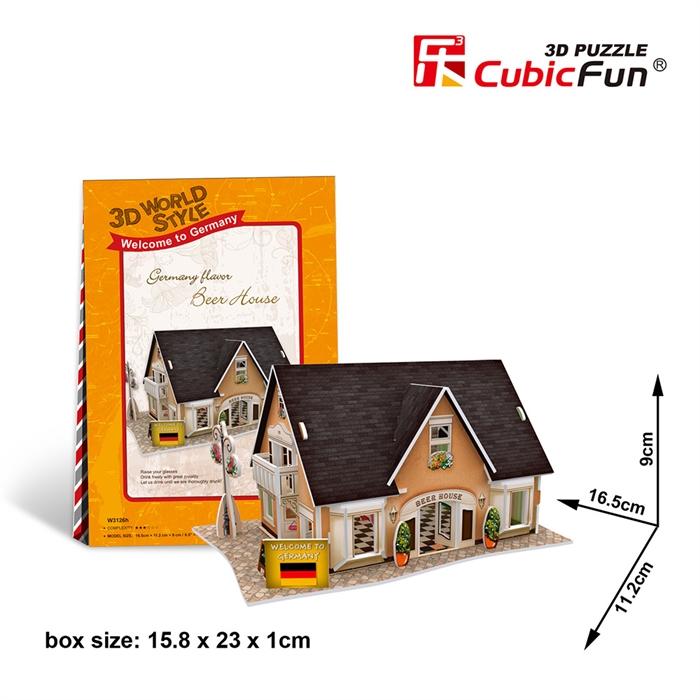 Cubic Fun 3D 42 Parça Puzzle Alman Bira Evi