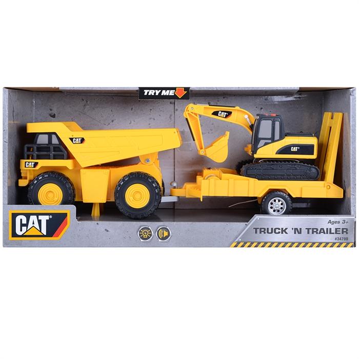 CAT Dupm Pulling Excavator Sesli ve Işıklı Oyun Set