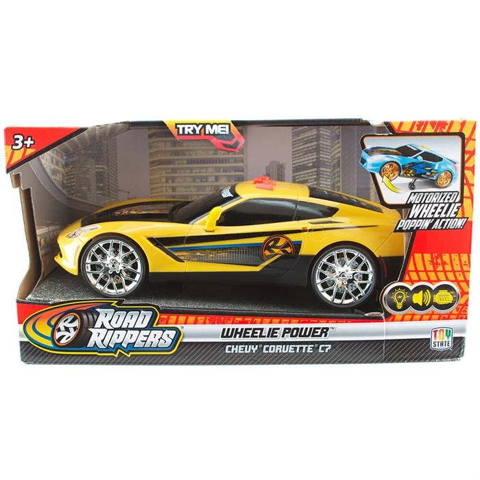 Road Rippers Wheelie Power Şahlanan Işıklı ve Sesli Araba Chevy Corvette