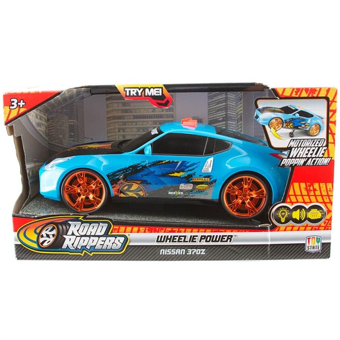 Road Rippers Wheelie Power Şahlanan Işıklı ve Sesli Araba Nissan 370 Z Mavi