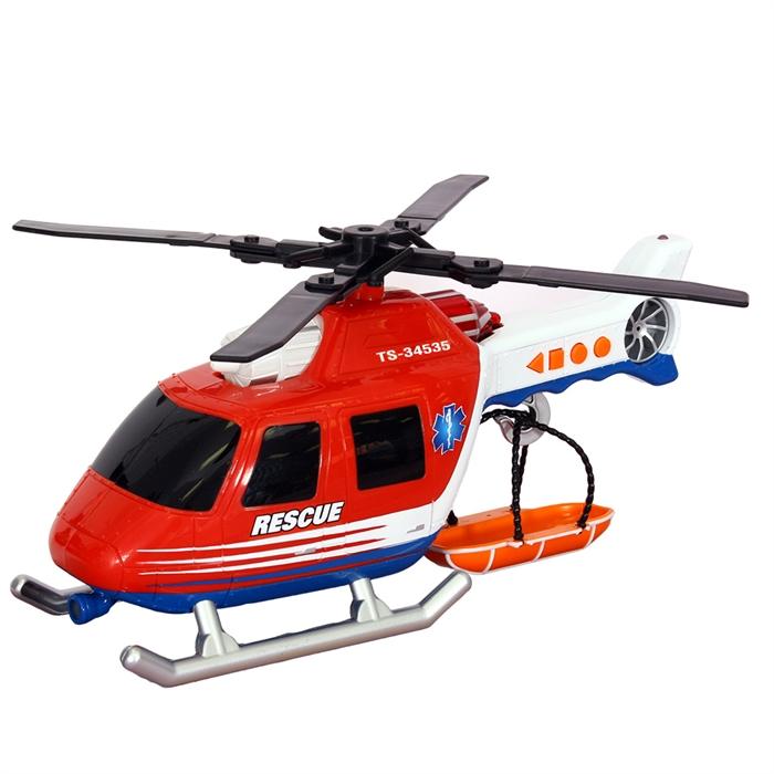 Road Rippers Rush Rescue Ses Işıklı Kurtarma Helikopteri