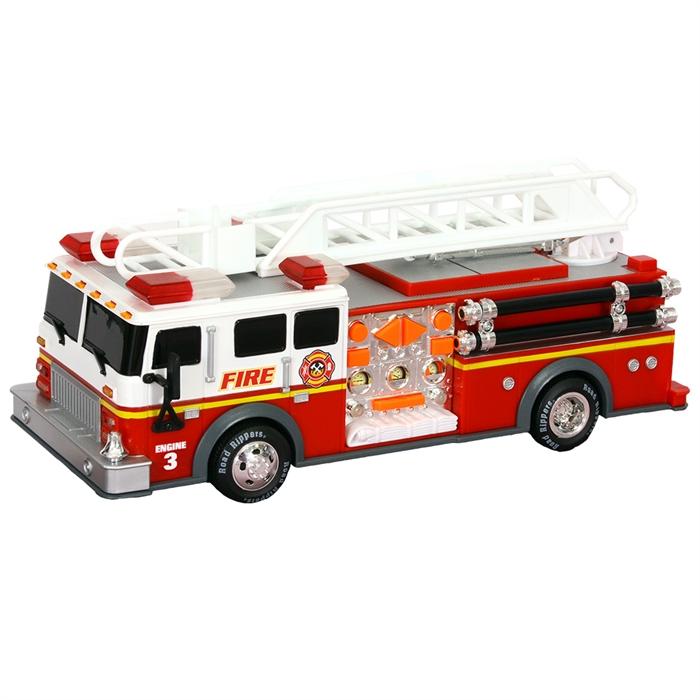 Road Rippers Rush Rescue Sesli ve Işıklı İtfaiye Aracı 34555