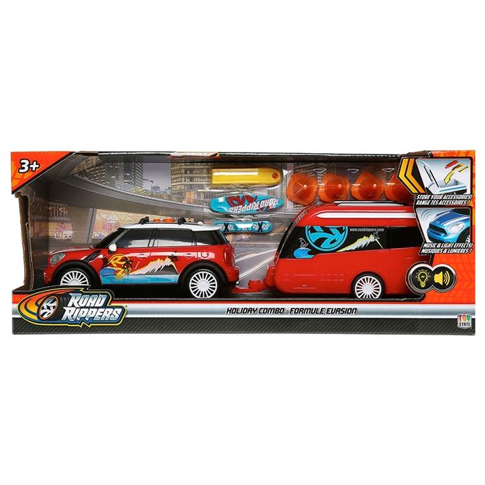 Road Rippers Mini Cooper S Sesli Işıklı Karavanlı Araba Oyun Seti