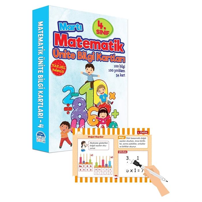 Matematik Ünite Bilgi Kartları 4.Sınıf