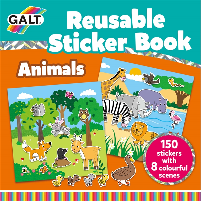 Galt Reusable Sticker Book - Animals