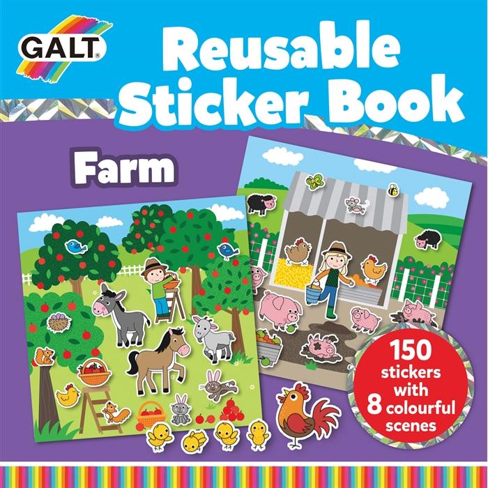 Galt Reusable Sticker Book - Farm