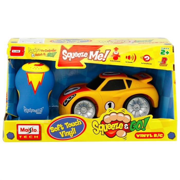 Maisto Squeeze & Go Kumandalı Araba Sarı