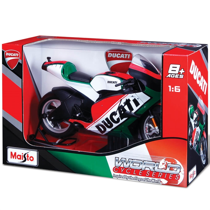 Maisto 2011 Ducati Desmosedici 1:6 Model Motorsiklet Yeşil