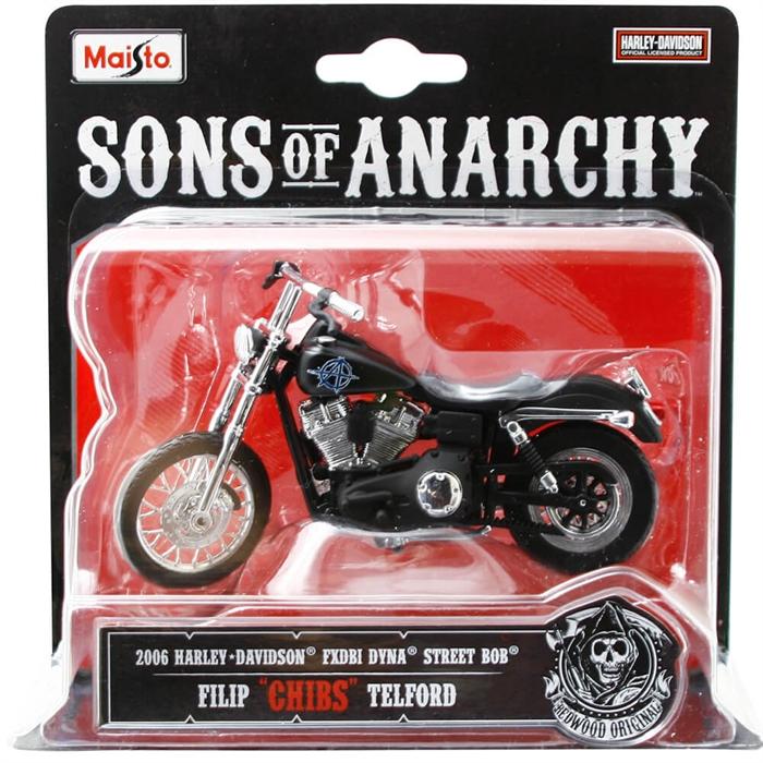 Maisto Sons Of Anarchy 2006 Harley Davidson CHIBS 1:18 Model Motorsiklet