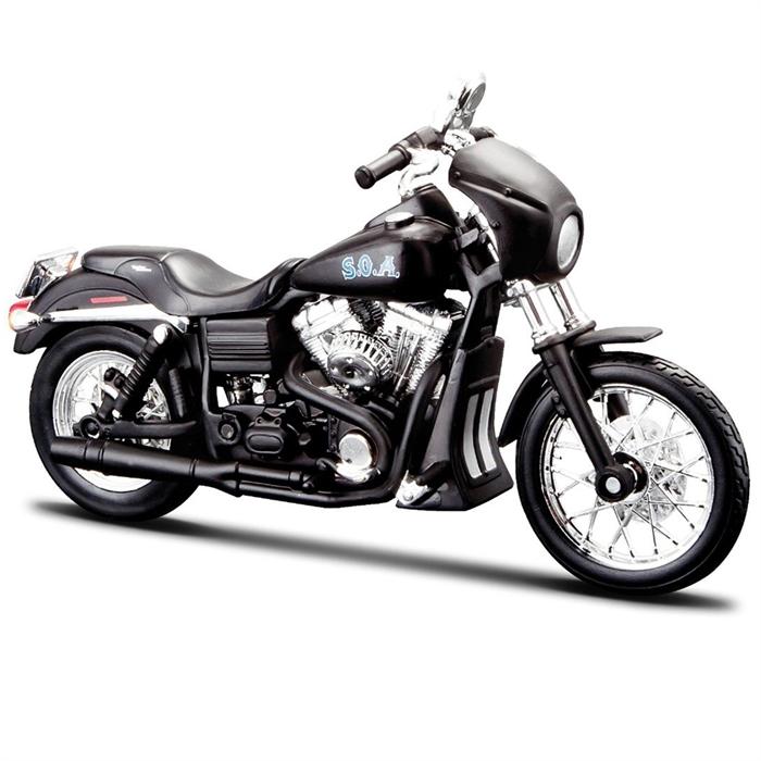 Maisto Sons Of Anarchy 2006 Harley Davidson Street Bob TIG 1:24 Model Motorsiklet