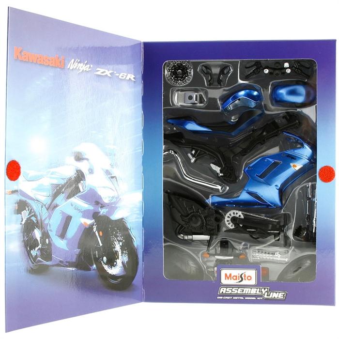 Maisto 1:12 Kawasaki Ninja ZX Model Maket Kit Motorsiklet