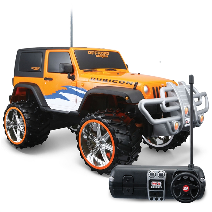 Maisto Tech 1:16 Jeep Wrangler Rubicon U/K Araba Turuncu