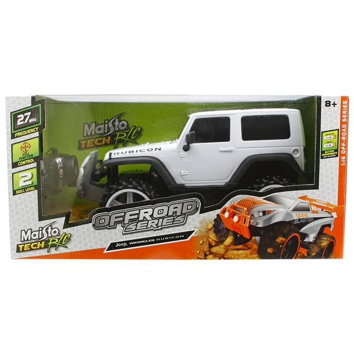 Maisto Tech 1:16 Off-Road Jeep Wrangler Rubicon U/K Araba Beyaz