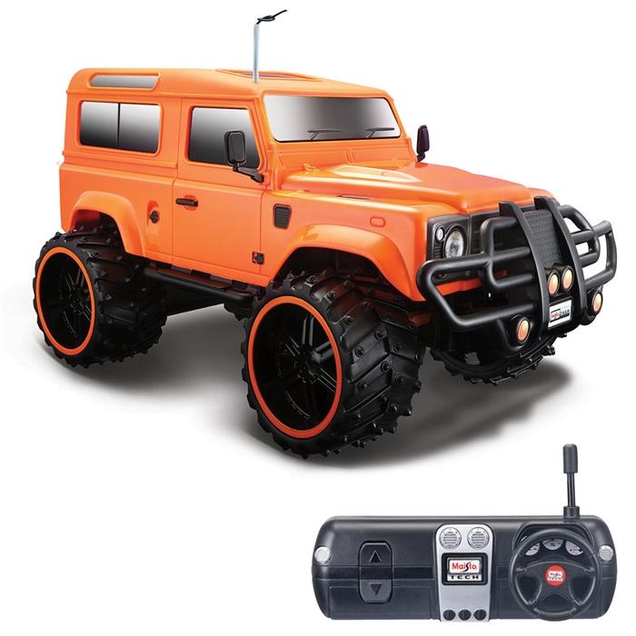 Maisto Tech 1:16 Off-Road Land Rover Defender U/K Araba Turuncu
