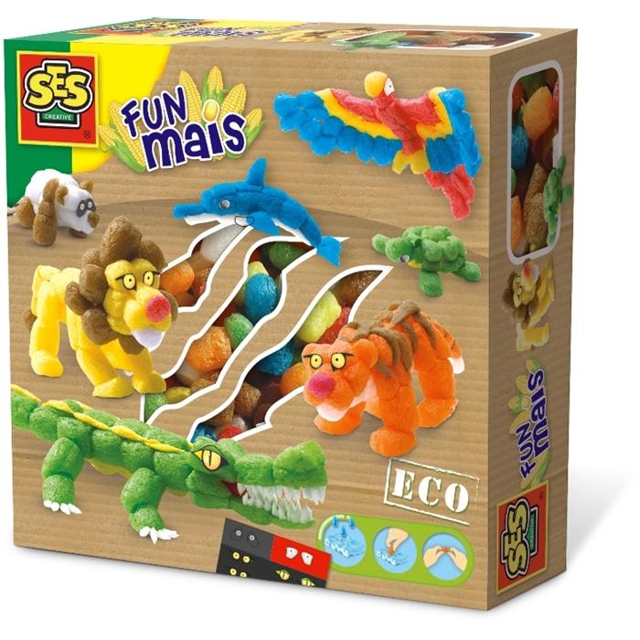 SES Creative Funmais Mısır Köpükleri - Safari Hayvanları