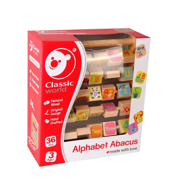 Classic World Ahşap Alfabe Abaküs