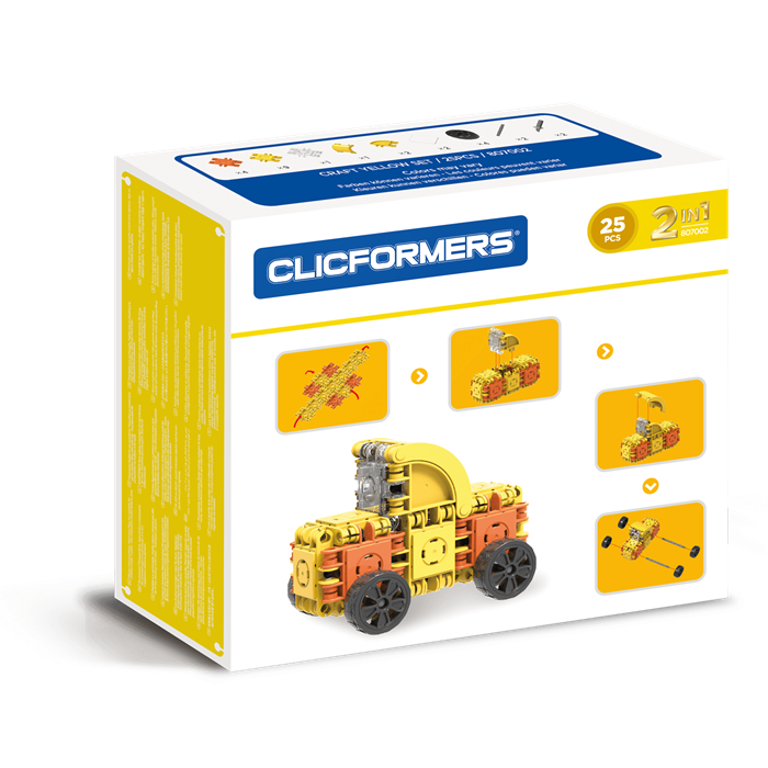 Clicformers Craft Set Yellow - 25 pcs