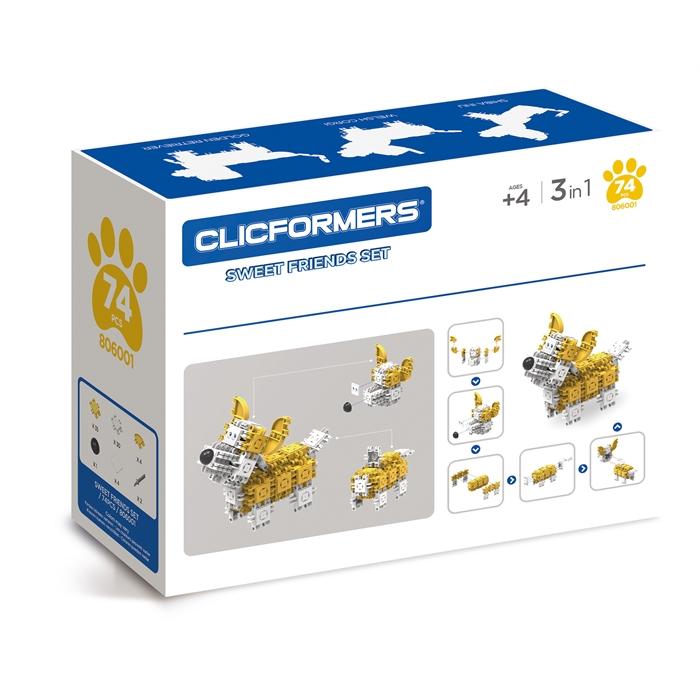 Clicformers Sweet Friends Set - 74 pcs
