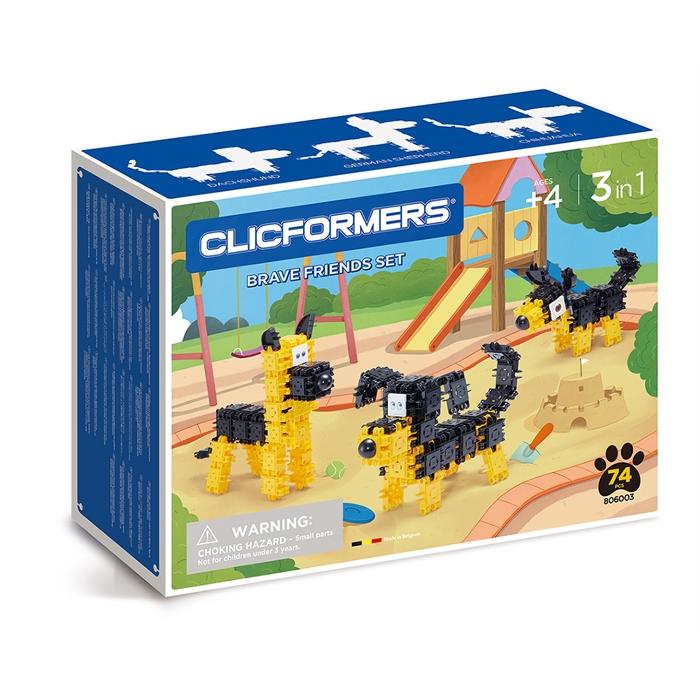 Clicformers Brave Friends Set - 74 pcs