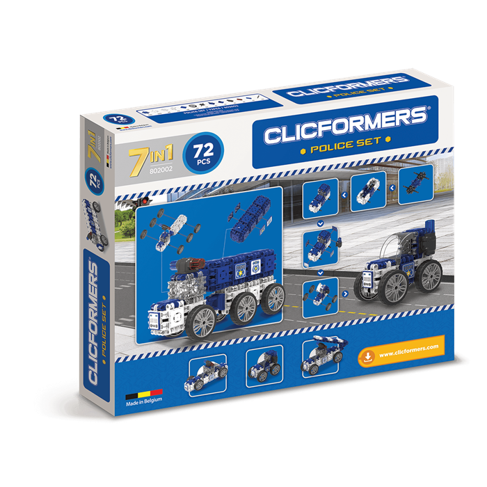 Clicformers Police Set - 72 pcs