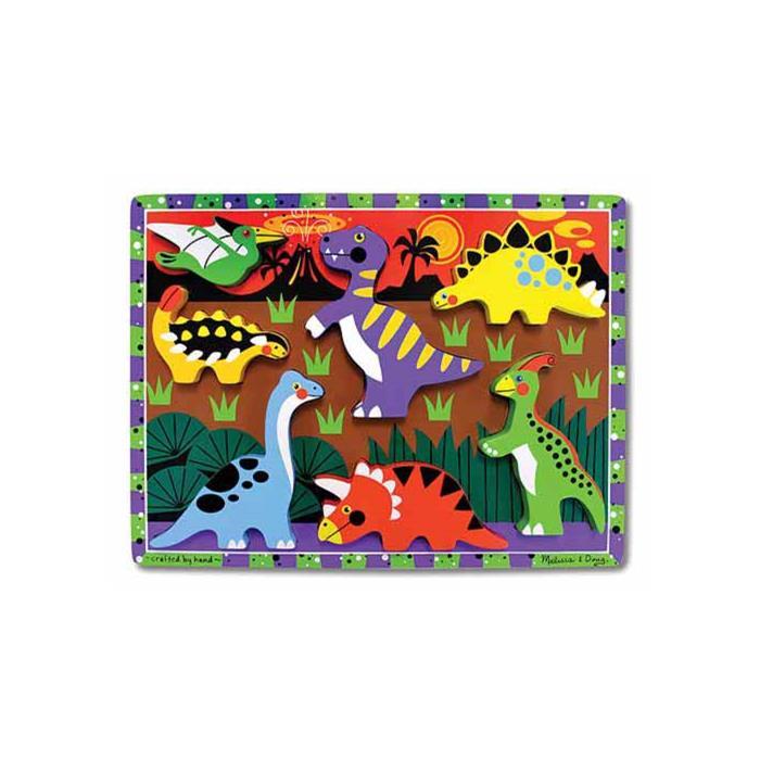 Melissa and Doug Ahşap Tombul Yapboz - Dinozorlar