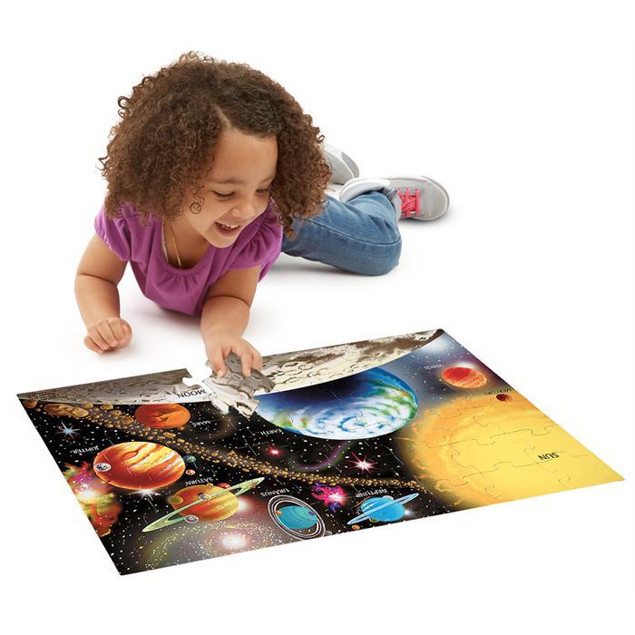 Melissa and Doug Dev Yer Yapbozu - Güneş Sistemi (48 parça)