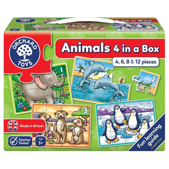 Orchard Hayvanlar 4 Yapboz Bir Arada (Animals 4 In A Box)